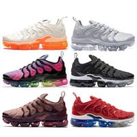 more photos 89090 b1b35 Nike vapormax tn plus air max off white Barato Maxes VM TN Plus Zapatillas  En Metallic Blanco Triple Negro Plata Gris Oreo Hyper Violet hombre  zapatillas ...