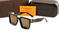 büyük boy erkek gözlükleri toptan satış-2020New erkekler için güneş gözlüğü tasarımcı güneş gözlüğü tutum erkek güneş gözlüğü erkekler boy güneş gözlükleri kare çerçeve açık serin erkekler gözlük