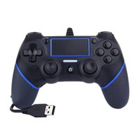 Wholesale multiple games online - Red Blue Green ft m Cable Game Controller Multiple Vibrations USB Wired Game Console Gamepad for PS4