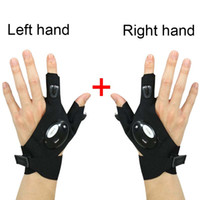 Car Repair Kits Right and Left Fingerless Lighting Gloves LED Flashlight Night Lamp Auto Rescue Tool Outdoor Hiking Fishing Gears