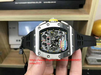 Wholesale men sports hand watch resale online - sell like Mens Basel World KV Date n Mens Watch ETA Forge steel Case Button yellow Chronograph Automatic Men Sport Wristwatches