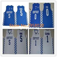 Wholesale kentucky jersey for sale - Group buy Cheap custom Malik Monk JOHN CALIPARI De Aaron Fox BAM ADEBAYO Kentucky Wildcats College Basketball Jersey Any Name and Let