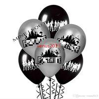 decoración de la fiesta de matrimonio al por mayor-Envío gratis negro y plata para la noche globo amapola globos de látex Globos fiesta de cumpleaños suministros niños juguetes regalos decoraciones matrimoniales