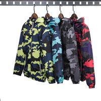 Wholesale camo military jacket women resale online - New Camouflage Jacket Men Patchwork Women Plus Size Camo Hooded Windbreaker Jackets Military Canvas Jacket Parka Fashion Streetwear Autumn