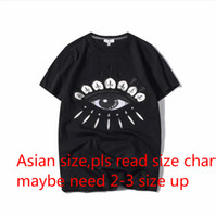 Wholesale clothing for men women online - 2019 Summer Designer T Shirts For Men Tops Eyes Letters Embroidery T Shirt Mens Clothing Brand Short Sleeve Tshirt Women Tops S XL