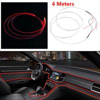 Wholesale car moulding trim strip resale online - Car Accessories M Optical Fiber Light Car Interior Decorative Lamp Dash Trim Moulding LED Strip