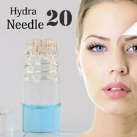 agulhas para garrafa venda por atacado-Rolo Hydra 20 Titanium Micro-agulha Derma Roller Stamp Agulha Rosto Pele Ácido Hialurônico Essência Garrafa Acne Poros Anti-Envelhecimento