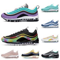 Wholesale mens tie sizes for sale - Group buy 2020 mens sneakers running shoes Tie Dye Black NEON SEOUL Throwback Future Have a day triple white black womens sports sneakers size