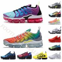 mavi üzüm toptan satış-Boyutu ABD 13 Hava Erkek Koşu Ayakkabıları TN Artı Gökkuşağı Mavi Menekşe Üzüm Erkek Eğitmenler Tüm Siyahlar Spor Kırmızı Bayan Minderler Spor Sneakers 36-47