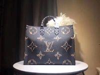 cuero de damas modernas al por mayor-M44571 bolso de compras de gran tamaño bolso de dama moderno bolso de un solo hombro 44571 cuero de alta calidad tamaño: 41 * 34 * 19 cm regalo postal marrón