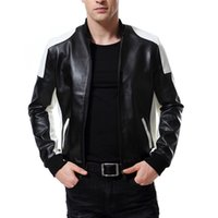 Wholesale retro motorcycle jacket resale online - New Autumn Motorcycle Leather Jacket Stand Collar Slim Men Leather Jackets Coats Retro Zippers Faux Jacket Male XL Y668