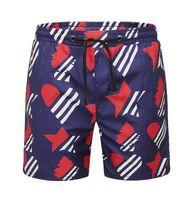 ingrosso corti blu stella-Offerta Summer Men Beach Pantaloncini Love Heart Star Cotone stampato Ragazzi Fashion Board Swimwear Pantaloncini con coulisse e abbottonatura blu