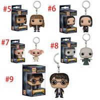 Wholesale figures toys harry potter for sale - Funko POP Hero Harley Quinn Deadpool Harry Potter Thor Joker Game of Thrones Figurines Toy Keychain