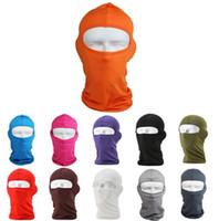 venta de máscara de moto al por mayor-VENTA CALIENTE Protección Al Aire Libre Cara Completa Lycra Pasamontañas Sombrero Cuello de Esquí Ciclismo Motocicleta Máscara 14 Colores