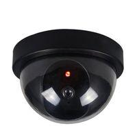 поддельный купол cctv оптовых-Новое Прибытие Открытый Крытый ABS Камеры Видеонаблюдения Манекен Поддельные CCTV Безопасности Купольная Камера с Мигающий Красный Свет