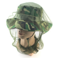Wholesale net mesh mask resale online - Anti mosquito Insect Fly Mask Cap Fashion Head Net Mesh Face Protection Creative Outdoor Fishing Equipment Accessories TTA683