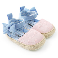 принцесса детская обувь девушки холст оптовых-Canvas Baby Shoes Princess Girls Sneakers Shoes first walkers bow Ballet soft soled first Walkers
