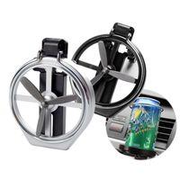 faltgetränkhalter großhandel-Universal Folding Klimaanlage Vent Clip Inlet Auto Auto Getränkehalter Auto Getränkeflasche Tasse Auto Rahmen für Lkw Van Drink HHA275