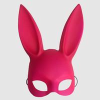 osterhase kostümiert erwachsene großhandel-Erwachsene bunny bunte maske frauen maskerade kaninchen maske bunny kaninchen maske für geburtstag party ostern halloween bar kostüm cosplay zubehör