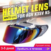 kask koruyucuları toptan satış-AGV K5 K3 SV Motosiklet Kaskı Shield Gözlük Motosiklet kaskı Mercek Tam Yüz Visor Motocross İçin Kask Visor