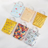 Wholesale diapers for infants resale online - Portable diaper bags waterproof mummy storage bag infant paper diaper Nursing Bag for kids diaper bags