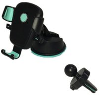 Wholesale kickstands for cell phones for sale – best 2 in Mini Windshield Car Mount Holder Rotating Air Vent Sunction Kickstand For Mobile Cell phone holder with retail package