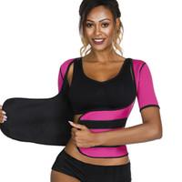 tops de perda venda por atacado-Sauna Sweat Trainer Cintura Perda de Peso Corset Controle Tummy Hot Shaper Do Corpo Das Mulheres Emagrecimento Shapewear Top