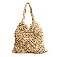 витражные соломинки оптовых-Женщины Мода соломы Hangbag Круг Летний пляж полую Урожай сплетенный мешок Урожай ручной корейский стиль Чистая сумка 3 цвета