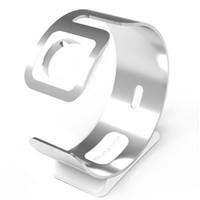 manzana usada al por mayor-Accesorios para el hogar Reloj inteligente Aleación de aluminio Soporte para teléfono Soporte de carga Conveniente Soporte duradero de escritorio Uso dual para Apple