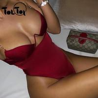 ingrosso corpi donna club-Catena tuta sexy donne Backless Bodycon pagliaccetti delle donne tuta 2019club Tuta signore Summer Party Body J190625