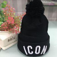 sombreros de lana de buena calidad al por mayor-2018 Hot New Good Quality Marcas de lujo ICON D2 Otoño Invierno Unisex gorros de lana sombrero moda casual Carta sombreros para hombres mujeres tapa