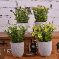 ingrosso bambù artificiale-Giappone stile creativo in vaso di bambù artificiale fiori in vaso paesaggio soggiorno ufficio creativo tavolo da pranzo decorazione fiore erba Bush