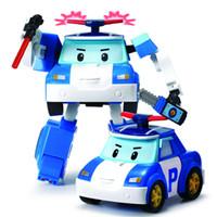 carros de polícia remotos venda por atacado-Silverlit Transform Police Car Poli Fire Truck Roy elétrica carro de controle remoto simples Deformação Robô crianças robô Meninos Toy Robot 3-6T 04