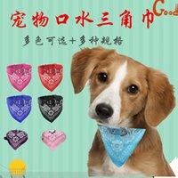 Wholesale boy dog collars for sale - Group buy Pet Dog Bandana Medium Large Dog Birthday Collar Girl Boy Small Scarf Blue Pink Pet Dog sweet07 QPfVY