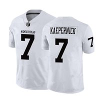 Wholesale jersey names resale online - 7 Colin Kaepernick IMWITHKAP JERSEY I M WITH KAP Football Jersey Black White Double Stiched Name Number High Quanlity