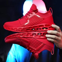 levées de lame achat en gros de-Weweya Cool Blade Hommes Casual Chaussures Respirant Tissé Bleu Sneakers Chaussures Hommes Lacets Pour Marche Nouvelle Conception Sneakers Creux