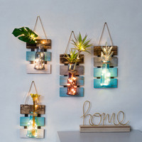 lebende vasen großhandel-Ydroponic Vase Dekoration Zimmer Schlafzimmer Wohnzimmer Kreative Wanddekoration Anhänger Innen Wandbild
