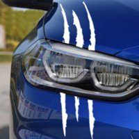 Wholesale claw stickers resale online - Sailnovo cm cm Funny Car Sticker Reflective Monster Scratch Stripe Claw Marks Car Auto Headlight Vinyl Decal Car Styling