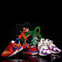 ingrosso scarpe da corsa unici-HOT Ins Dragon Ball Z x ZX 500 Goku Run Shoe Designer unico Fashion Streets Sport Sneakers Taglia 36-45 con qualità superiore