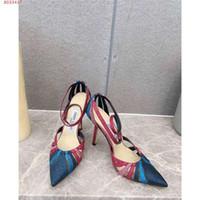 talon haut pointu achat en gros de-2019 dernières sandales en cuir de vachette sens simple métallisé, sandales à talons hauts et bouts pointus à hauteur de talon 10 cm