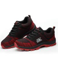 brand new bb12d df818 Zapatos de seguridad para hombres Zapatos con punta de acero para trabajo  informal para hombres Botas de seguridad para el trabajo resistentes al  desgaste ...