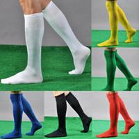 diz çorapları beyzbol üzerinde toptan satış-Erkek Spor Futbol Futbol Uzun Çorap Diz Yüksek Çorap Beyzbol Hokey çorap Üzeri