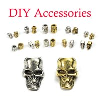 Wholesale lanyards paracord resale online - Mini Skull Beads For EDC Outdoor Lanyards Knife Flashlight Paracord DIY Jewelry Charms Accessories Keychain Support FBA Drop Shipping M372F