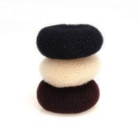 Wholesale bun shaper for sale - Group buy 7cm cm Sponge Braider Ladies Girls Magic Shaper Donut Hair Bun Ring Maker Fashion Hair Accessories