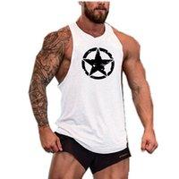 mens pamuk spor singlet toptan satış-Yeni moda Erkekler Spor Gömlek pamuk kolsuz gömlek tank top erkekler Spor gömlek erkek atlet Vücut geliştirme egzersiz salonu yelek spor Toptan
