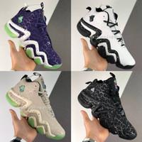 ingrosso scarpe di basket luminose-2020 Crazy 8 J luminoso della serie Signature effetto Mens Cultura scarpe da basket Neap verde fluorescente viola spine noctilucent Sneakers