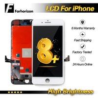 ingrosso sostituzione del pannello iphone-Alta luminosità - Per iPhone 8 Plus LCD Screen Panel LCD Display Testato Buona sostituzione Touch Screen Digitizer Assembly di lavoro