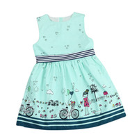 Wholesale cute baby clothing for girls for sale - Group buy Girls Dress Summer Cute Cartoon Printed Girls Dresses Sleeveless Vest Bowknot Belt Princess Dress Kids Skirt Baby Girl Clothes For Y A441