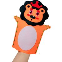 Wholesale sewing toys for sale - Group buy Kids DIY Non woven Animals hand puppets Styles Creative Handmade sewing toys nursery school games Animals patterns Frog Owl Panda shaped