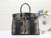 b s toptan satış-Çanta tasarımcısı H k kadın 35 cm çanta çanta moda kılıf yılan desen yüksek kalite çantalar B K çanta